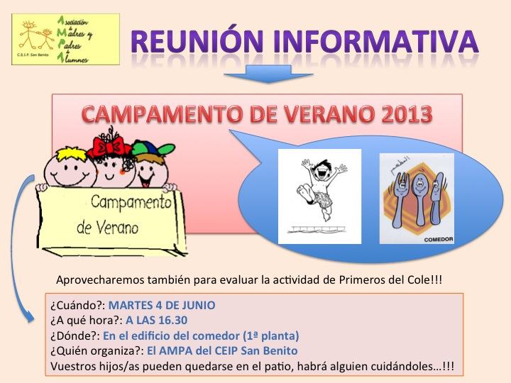 Reunión campamento 2013